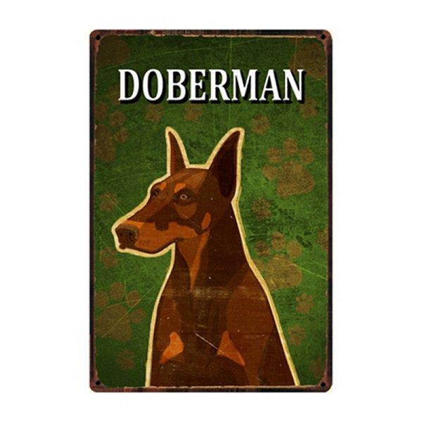 ★数量定商品★犬種別メタルサイン (ドーベルマン)★レターパックOK★