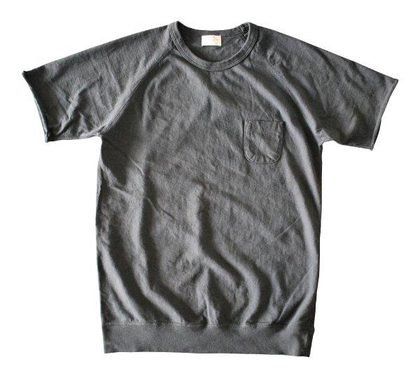 ムラ糸吊り編み天竺ラグランポケットT シャツ