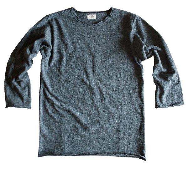 リバイバル天竺七分袖カットオフTシャツ