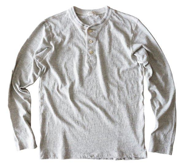 リバイバル天竺L/SヘンリーネックTシャツ
