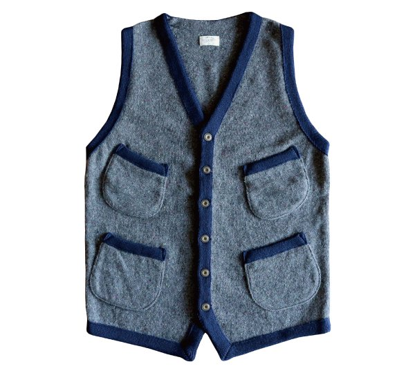 COOMA LAMBS WOOL CARDIGAN SWEATER VEST