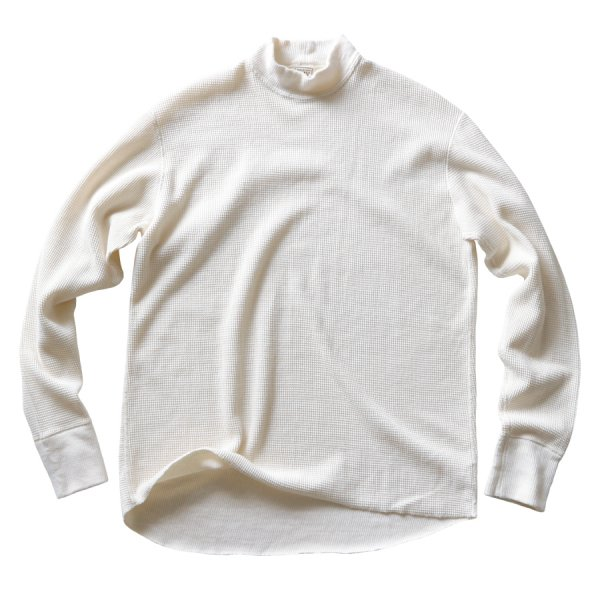 WIRE MESH THERMAL L/S MOCK NECK