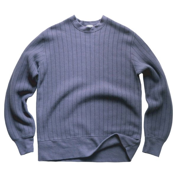 TOMPKINS KNIT VINTAGE VERTICAL STRIPED CREWNECK