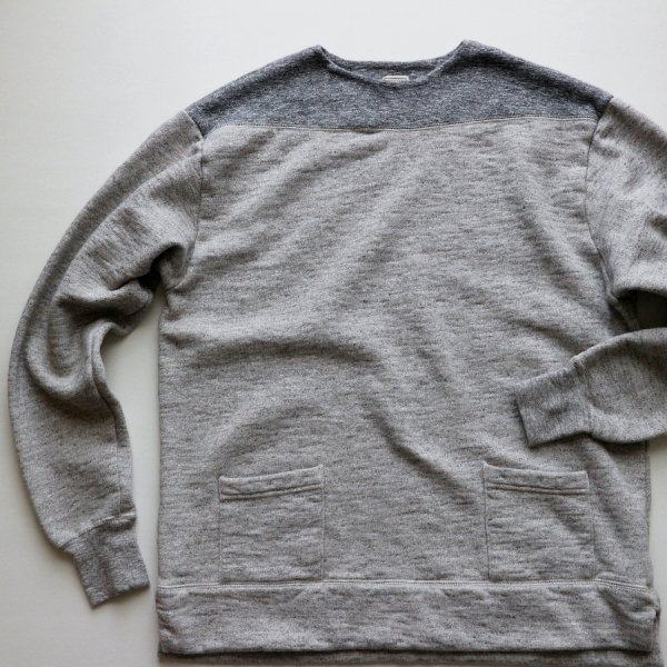 VINTAGE SLUB COTTON 50s BOATNECK SWEATSHIRT