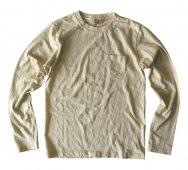 ムラ糸吊り編み天竺クラシックリブロングスリーブポケットT シャツ