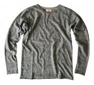ムラ糸杢天竺カットオフロングスリーブT シャツ