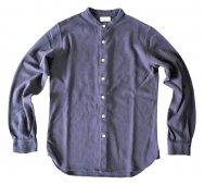 コーマモックミラノリブカットソーシャツ(スタンドカラー)