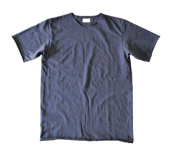 ムラ糸吊り編み天竺カットオフ半袖T シャツ