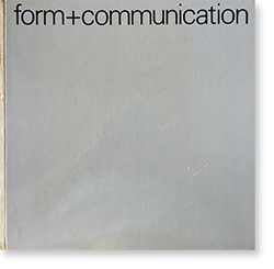 Form+Communication Walter Diethelm ヴァルター・ディーテルム 作品集