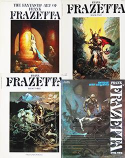 The Fantastic Art of FRANK FRAZETTA 4 volume set フランク・フラゼッタ 作品集 全4冊