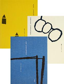 ミナ ペルホネンの織り 刺繍 プリント 全3冊セット mina perhonen 1 textile, 2 embroidery, 3 print 3 volume set