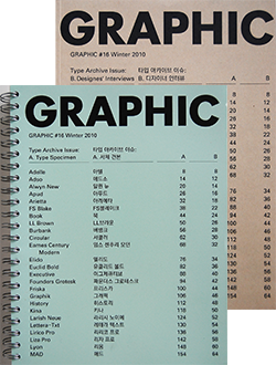 GRAPHIC #16 Type Archive Issue: A. Type Specimen+B. Designers' Interviews 2冊セット