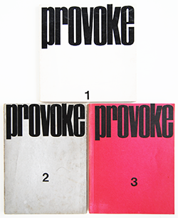 プロヴォーク 全3冊揃 中平卓馬 多木浩二 森山大道 他 PROVOKE 3 volume set Takuma Nakahira, Daido Moriyama etc.