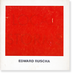 EDWARD RUSCHA An Exhibition Catalogue 1976 エドワード・ルシェ