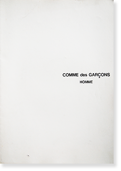 COMME des GARCONS HOMME No.24 Catalogue 1986 コムデギャルソン・オム カタログ 24号 1986年