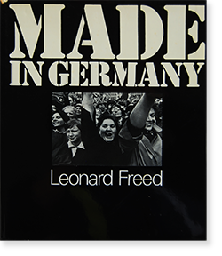 <img class='new_mark_img1' src='https://img.shop-pro.jp/img/new/icons7.gif' style='border:none;display:inline;margin:0px;padding:0px;width:auto;' />MADE IN GERMANY First Edition Leonard Freed レナード・フリード 写真集