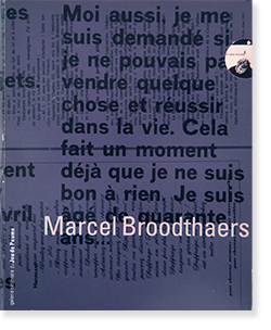 <img class='new_mark_img1' src='https://img.shop-pro.jp/img/new/icons7.gif' style='border:none;display:inline;margin:0px;padding:0px;width:auto;' />Marcel Broodthaers: galerie nationale du Jeu de Paume マルセル・ブロータース 作品集