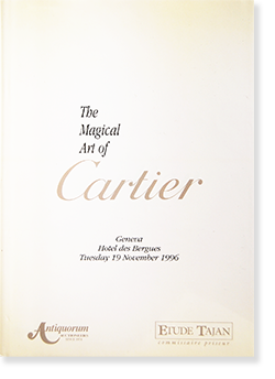 The Magical Art of Cartier auction catalogue in 1996