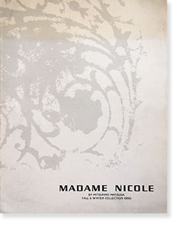 Madame Nicole fall and winter collection 1990 catalogue マダム・ニコル 1990年 秋冬コレクション カタログ
