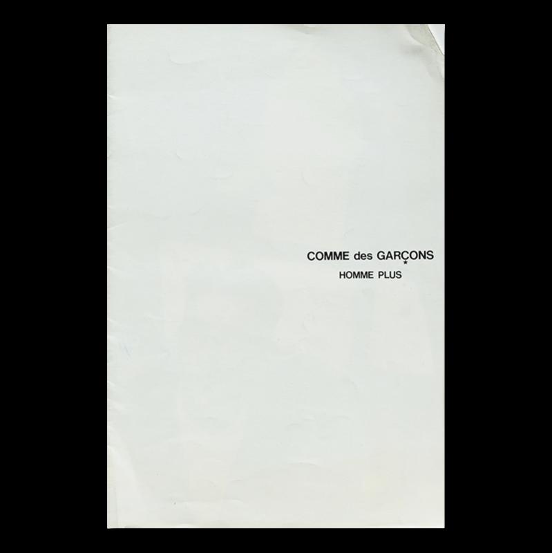 COMME des GARCONS HOMME PLUS No.2 Catalogue 1986 コムデギャルソン・オム プリュス カタログ 2号 1986年