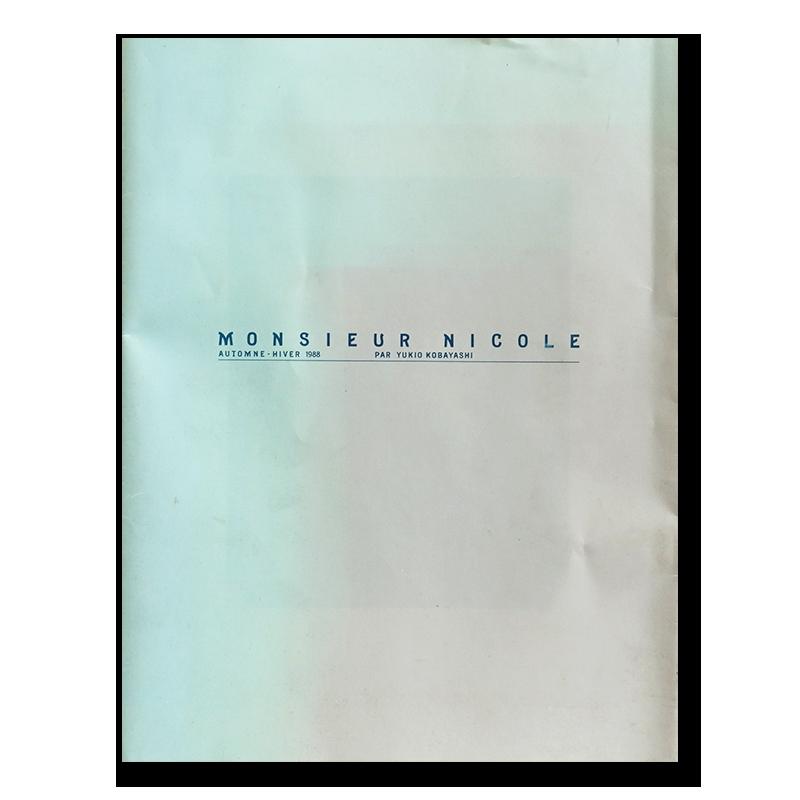 MONSIEUR NICOLE Automne-Hiver 1988 par YUKIO KOBAYASHI