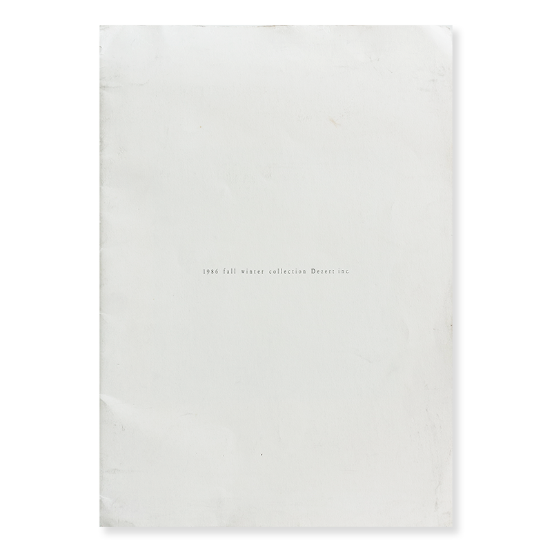 1986 fall winter collection DEZERT INC. by Shigehiko Taguchi