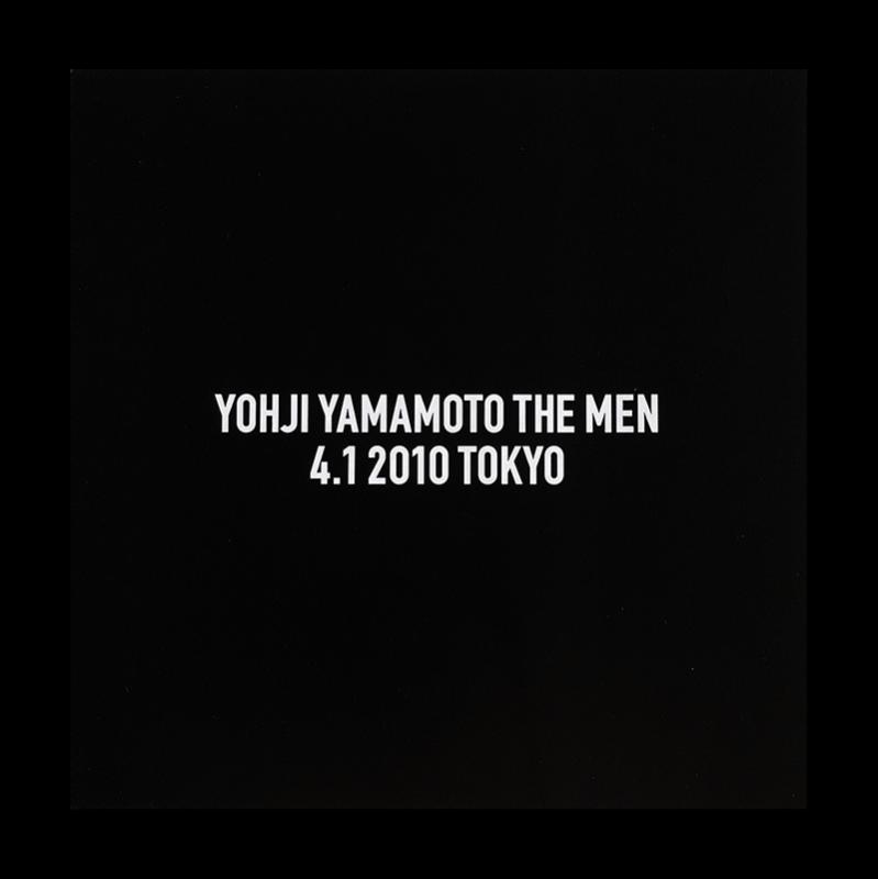 YOHJI YAMAMOTO THE MEN 4.1 2010 TOKYO show invitation card