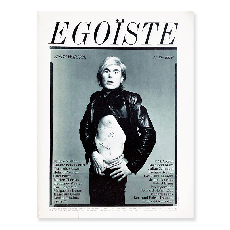 EGOISTE No.10 ANDY WARHOL photographed by Richard Avedon