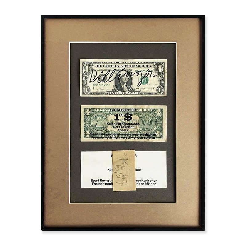 Joseph Beuys multiple : Dollarnoten (Dollar Bills) 1978<br>ヨーゼフ・ボイス マルチプル作品