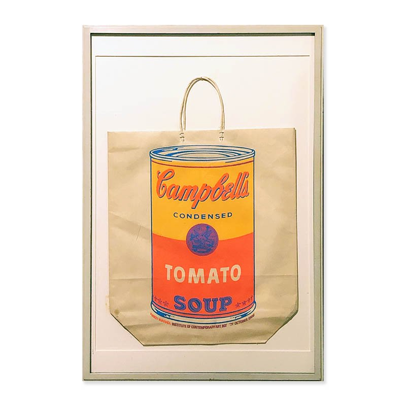 Campbell's Soup Bag by Andy Warhol, Exhibition at Institute of Contemporary Art Boston, 1966