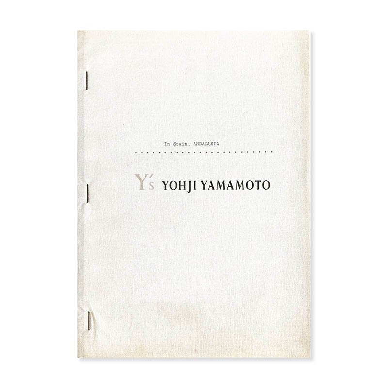 Y's & Y's for men fall/winter 1994-95 In Spain, ANDALUSIA<br>ワイズ & ワイズフォーメン 1994-95年 秋冬コレクション カタログ