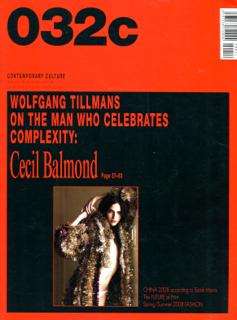 032c 2007-2008 issue14 第14号 セシル・バルモンド Cecil Balmond ヴォルフガング・ティルマンズ