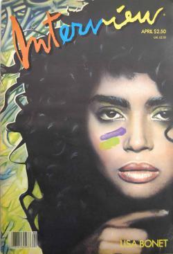インタビュー・マガジン 1987年4月号 Andy Warhol's Interview magazine 1987 April LISA BONET リサ・ボネット
