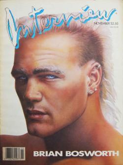 インタビュー・マガジン 1987年10月号 Andy Warhol's Interview magazine 1987 November