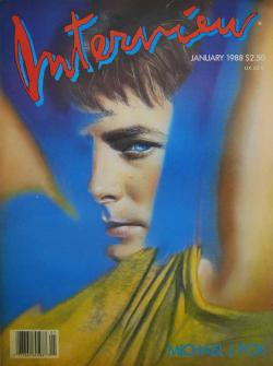 インタビュー・マガジン 1988年1月号 Andy Warhol's Interview magazine 1988 January