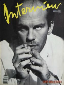 インタビュー・マガジン 1989年3月号 Andy Warhol's Interview magazine 1989 March