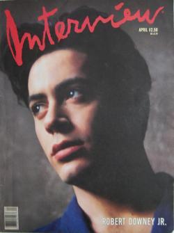 インタビュー・マガジン 1989年4月号 Andy Warhol's Interview magazine 1989 April