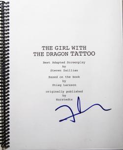 ドラゴン・タトゥーの女 デヴィッド・フィンチャー The Girl with The Dragon Tatto David Fincher 署名本 signed