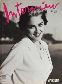 インタビュー・マガジン 1989年5月号 Andy Warhol's Interview magazine 1989 May
