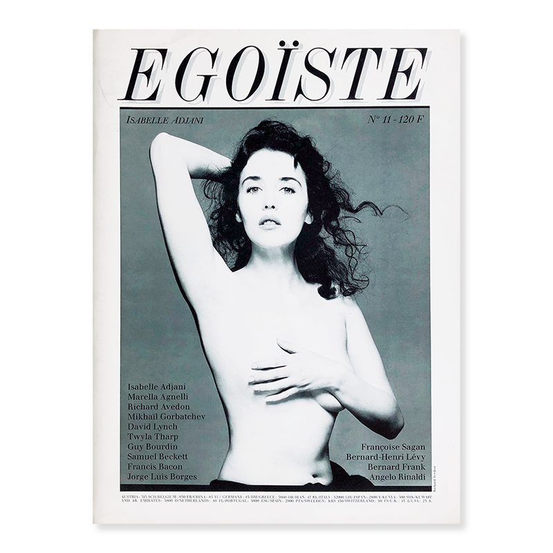 EGOISTE No.11 ISABELLE ADJANI photographed by Richard Avedon