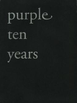 Purple ten years パープル 10周年号