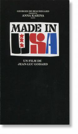 MADE IN U.S.A. Jean-Luc Godard films N.S.W. vol.2 ジャン=リュック・ゴダール