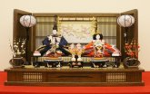 No37  親王飾り85� 桐茶塗刺繍桜セット (のぞみ)S-257
