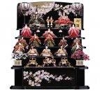 黒塗り五段飾り 金彩桜