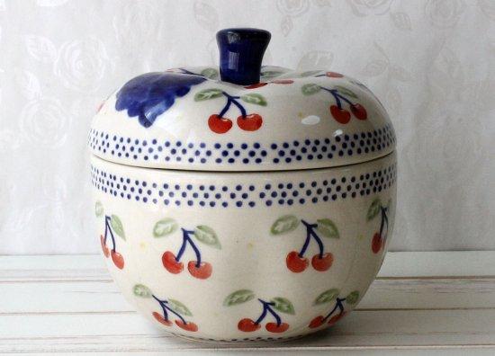 ポーリッシュポタリー (ポーランド食器) リンゴポット | J58-ALC84