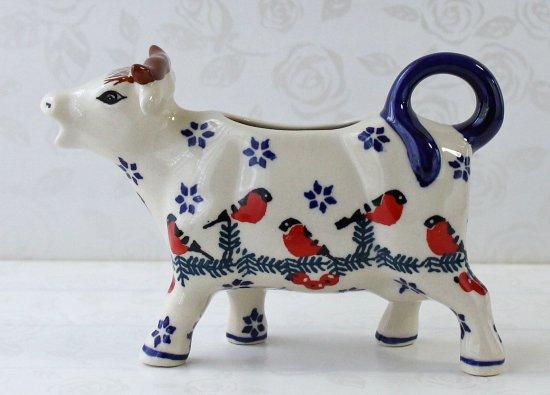 ポーリッシュポタリー (ポーランド食器) 牛のピッチャー120ml|D81-GILE