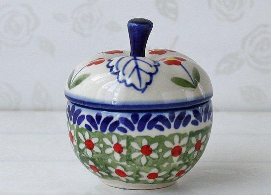 ポーリッシュポタリー(ポーランド食器)リングケース J62-ALC57