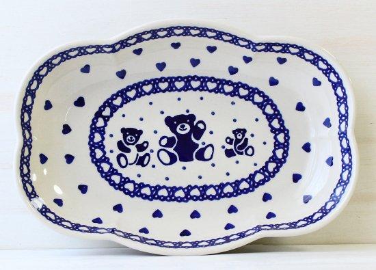 ポーリッシュポタリー(ポーランド食器)クマさんクラウドボウルL| S127-MSN