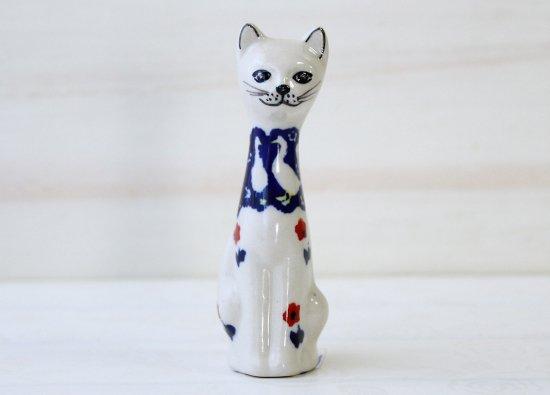 ポーリッシュポタリー(ポーランド食器)子猫のフィギュア   F89-ALC64