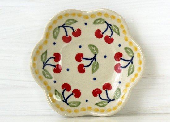 ポーリッシュポタリー(ポーランド食器)花皿S 11㎝|P205-ALC83